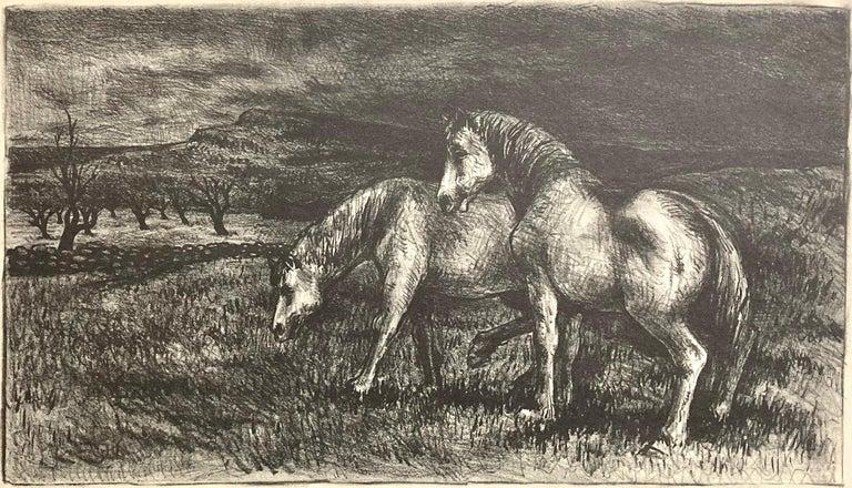 Reginald Wilson Figurative Print - Horses
