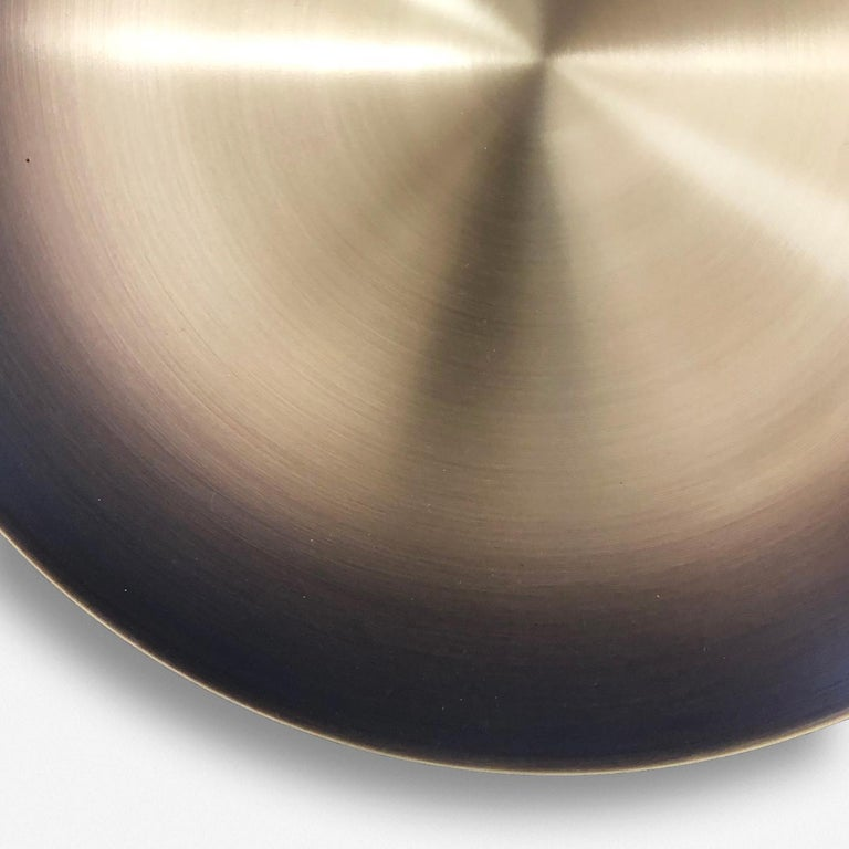 Patinated 'Cosmic Regolith' Black Patina & Gradient Bronzed Brass Pendant Lamp, Chandelier For Sale
