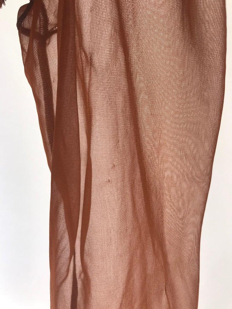 Women's Rei Kawakubo 1990s sheer nylon brown top For Sale