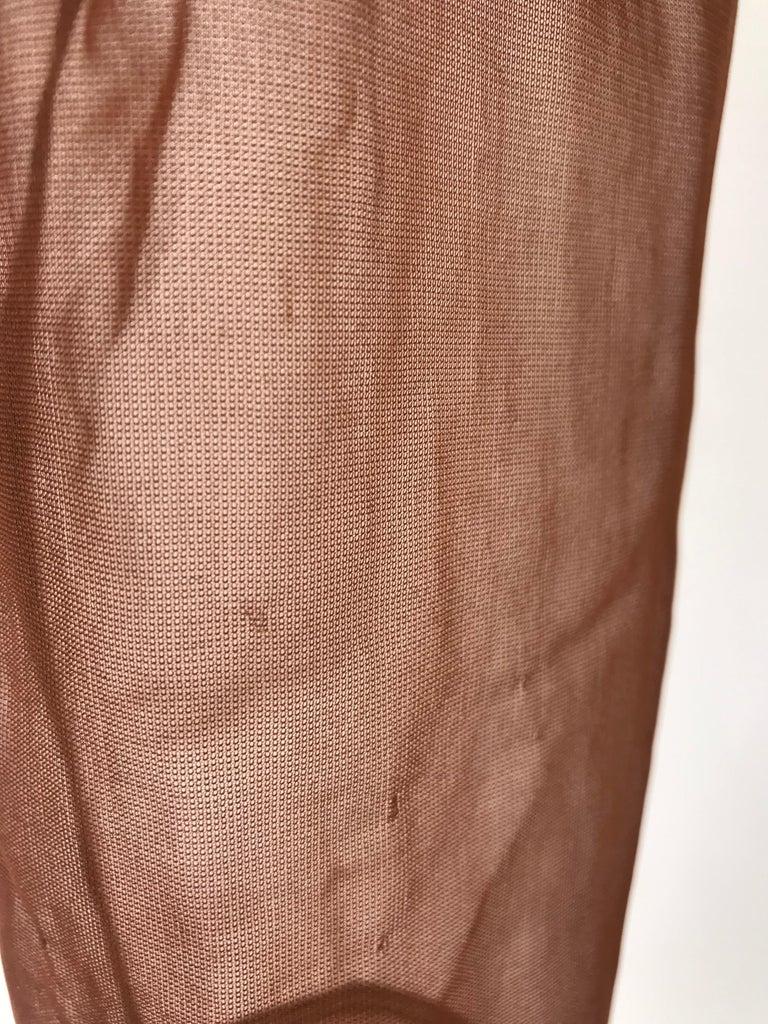 Rei Kawakubo 1990s sheer nylon brown top For Sale 1