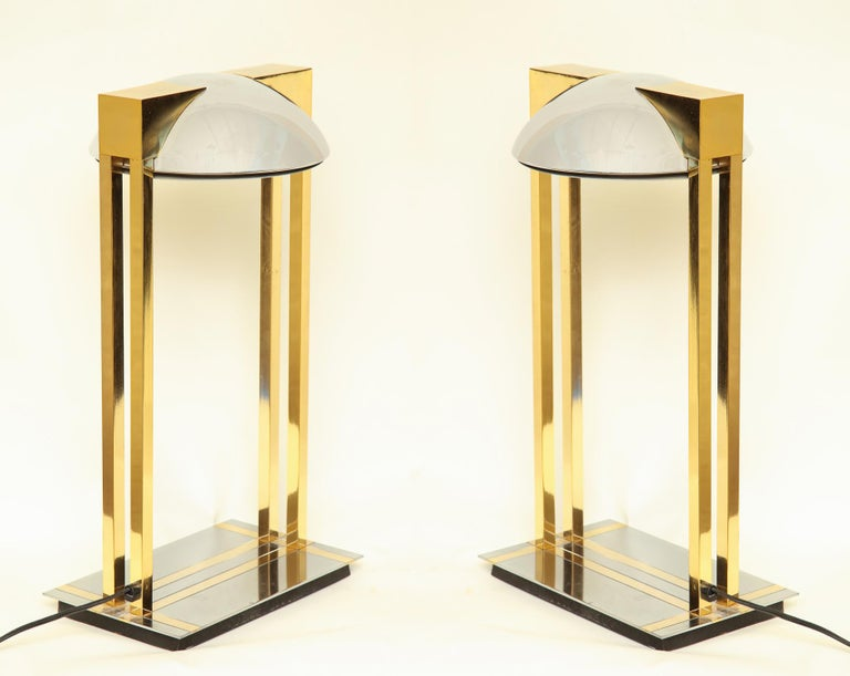 Reico Table Lamps Pair of Mid-Century Modern Murano, Italy, 1970s For Sale 4