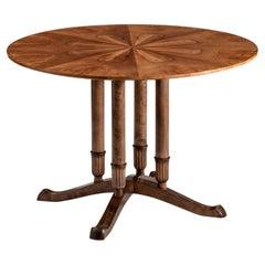 Reiners Mobelfabrik, Rare Swedish Grace Period Walnut and Birch Low Table