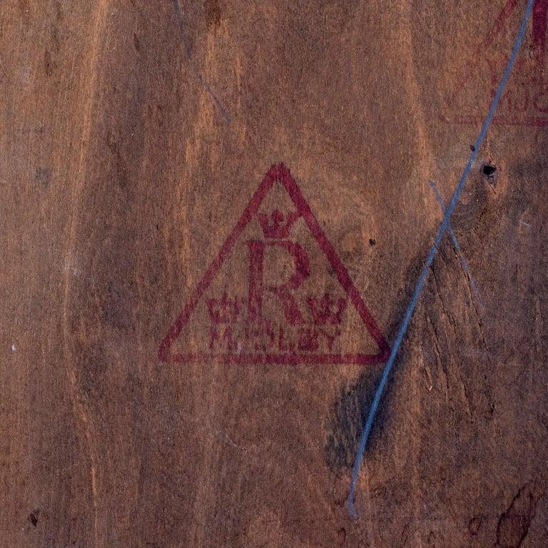 Reiners Möblefabrik, Swedish Art Deco Ebonized Birch & Turquoise Tile-Top Table For Sale 2