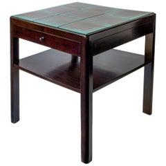 Reiners Möblefabrik, Swedish Modernist Ebonized Birch & Turquoise Tile-Top Table