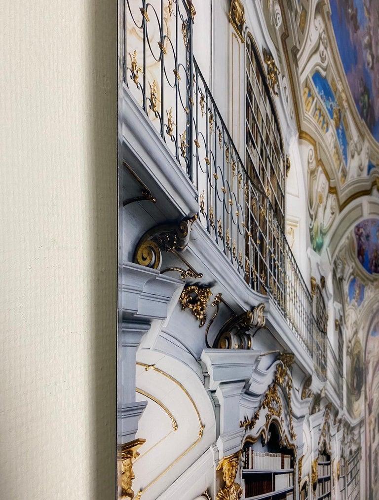 Admont Abbey, Library Hall, Austria - Gray Figurative Photograph by Reinhard Görner
