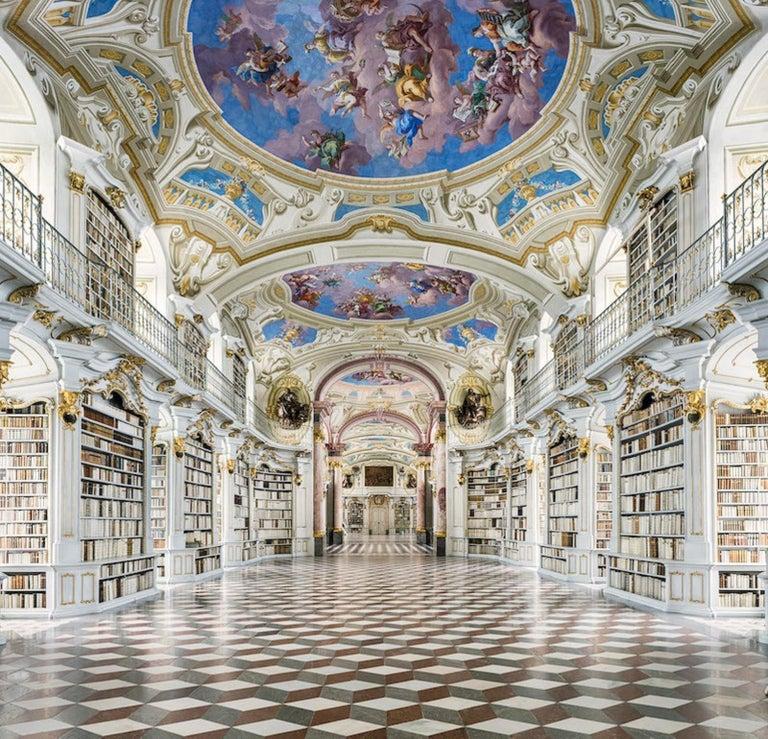 Reinhard Görner Figurative Photograph - Admont Abbey, Library Hall, Austria
