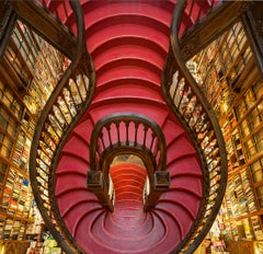 Red Staircase, Lello Bookshop, Portugal