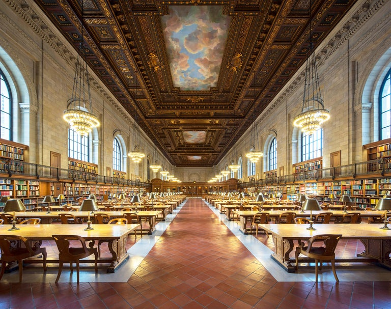 Reinhard Görner Figurative Photograph - Rose main reading room, New York Public Library