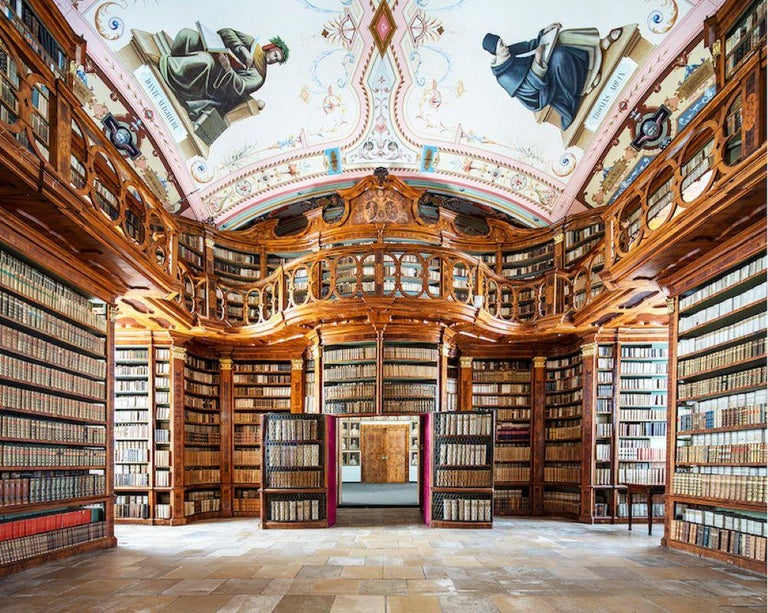 Reinhard Görner Figurative Photograph - Two Men of Letters - Schagl Abbey Library