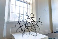 Circular Unique Bronze Sculpture Tree Root Contemporary Canadian Artist