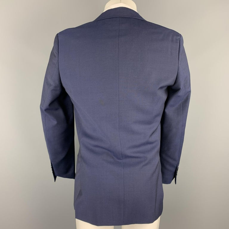 REISS Size 36 Short Navy Wool Notch Lapel Suit In Excellent Condition For Sale In San Francisco, CA