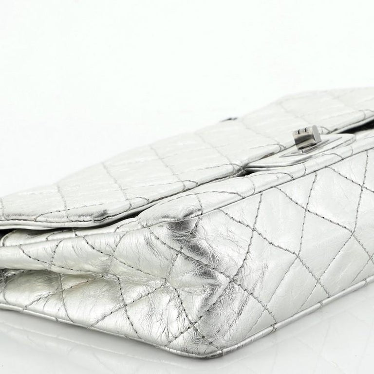Reissue 2.55 Flap Bag Quilted Metallic Aged Calfskin 226 For Sale 3