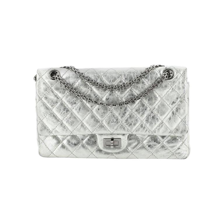 Reissue 2.55 Flap Bag Quilted Metallic Aged Calfskin 226 For Sale