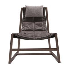Relax Brown Lounge Chair by Controdesign Studio by Pacini & Cappellini