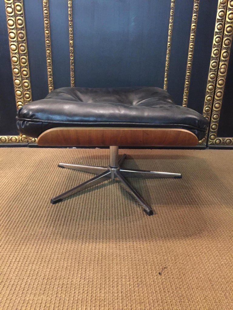 Relax, Lounge Armchairs with Stool Vintage, Eames Style Made in Germany For Sale 7