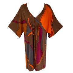 Boho Cool Mini Silk Jersey Caftan BIBI bronze NWT