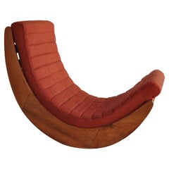 """Relaxer"" Rocking Chair by Danish Designer Verner Panton, 1974"