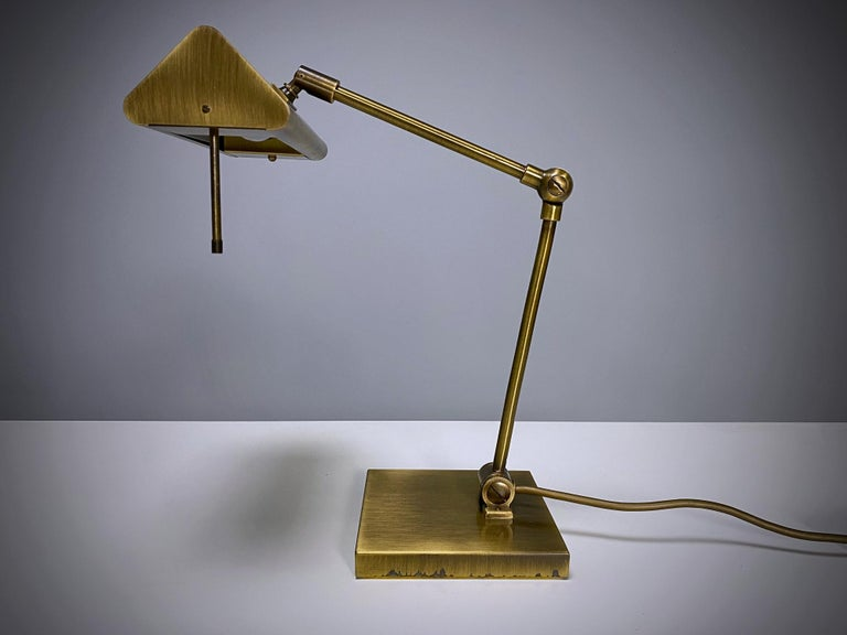 Relco Milano Midcentury Brass Table Lamp, 1970s, Italy For Sale 3
