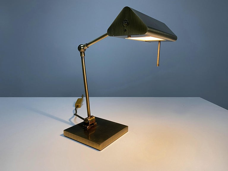 Metalwork Relco Milano Midcentury Brass Table Lamp, 1970s, Italy For Sale