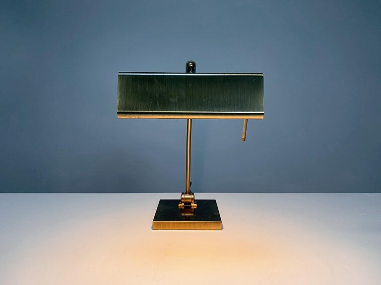 Relco Milano Midcentury Brass Table Lamp, 1970s, Italy For Sale 2