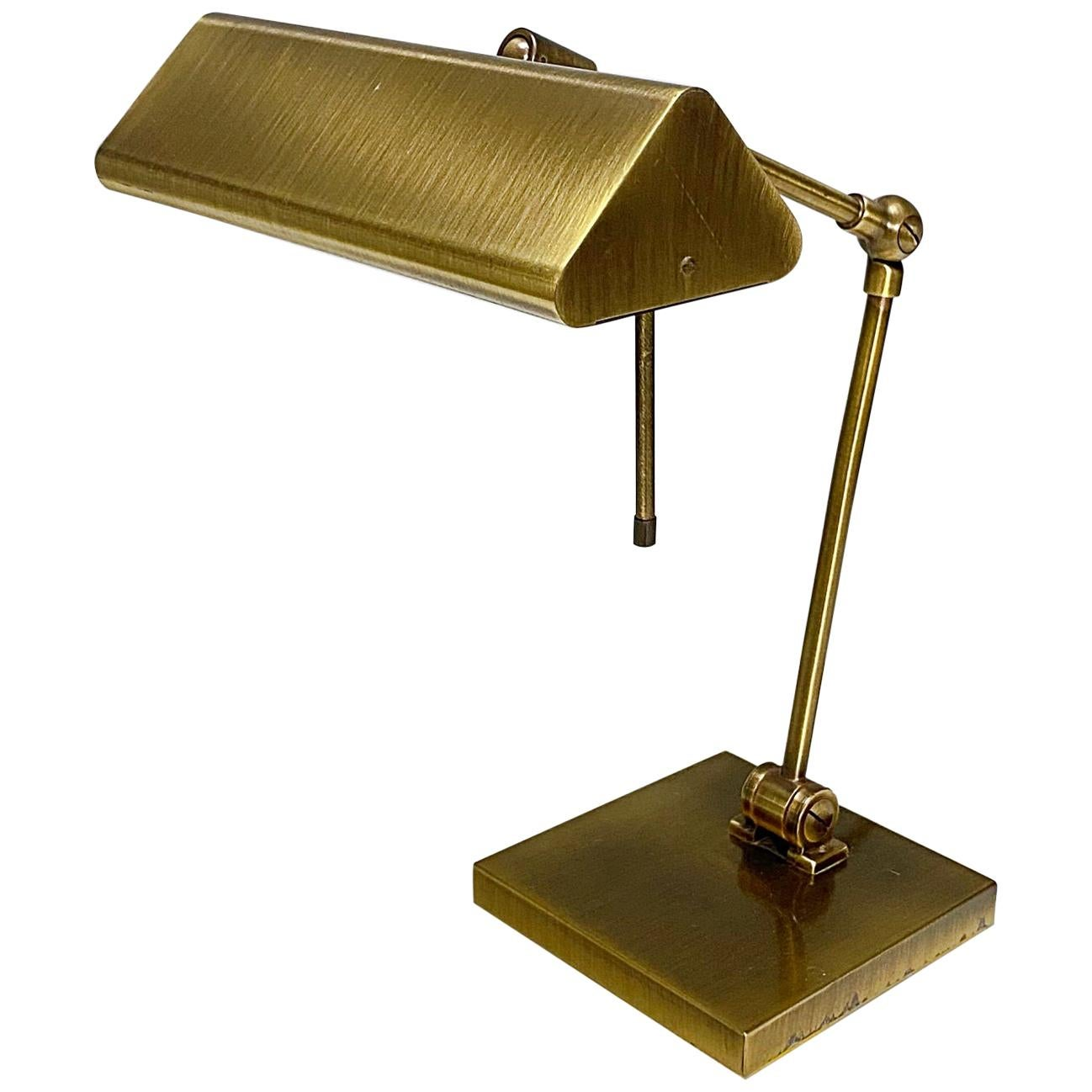 Relco Milano Midcentury Brass Table Lamp, 1970s, Italy