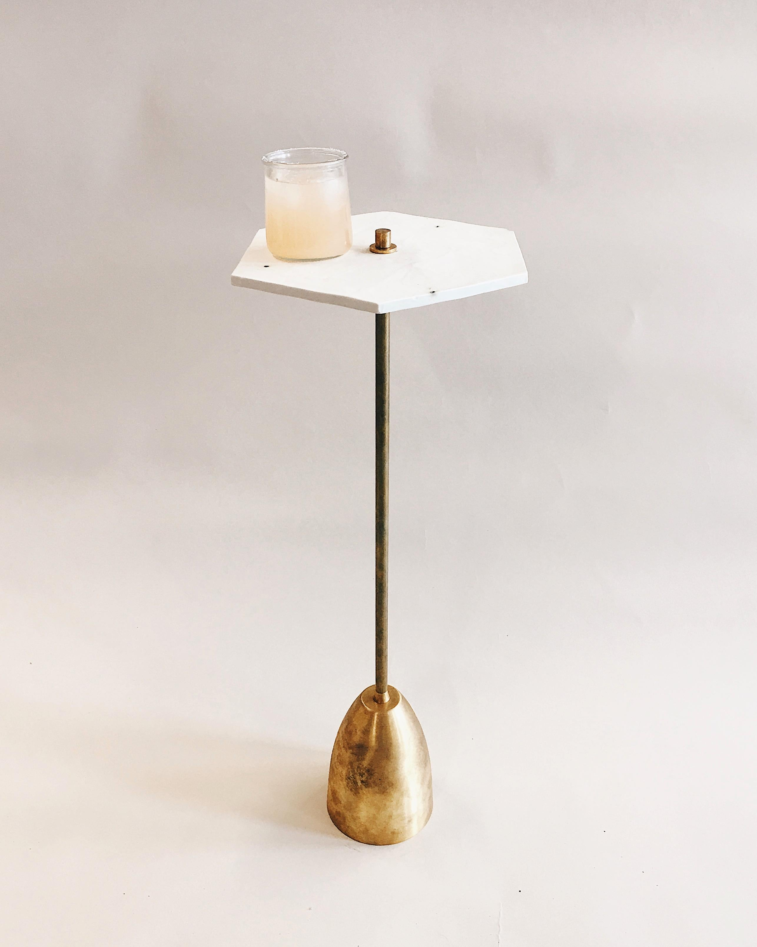 Picture of: Relic Porcelain And Brass Small Drinks Table For Sale At 1stdibs