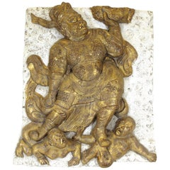 Relief Wall Plaque of Shiva Dancing on the Dwarves of Ignorance