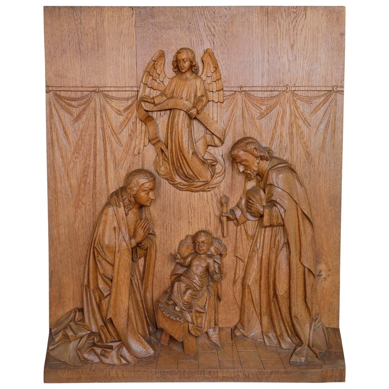 Religious Carving of the Nativity