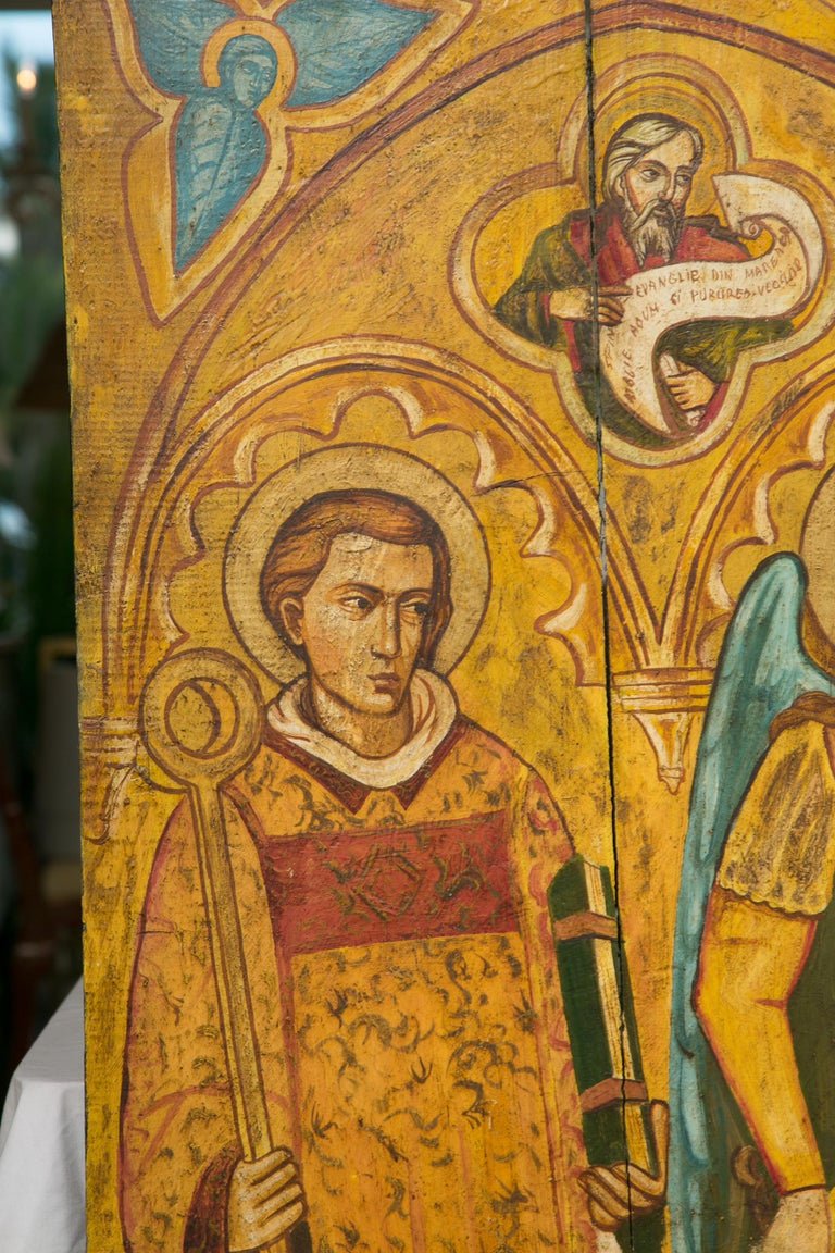 Religious Icon Painted on Board For Sale 2