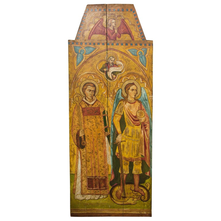 Religious Icon Painted on Board For Sale