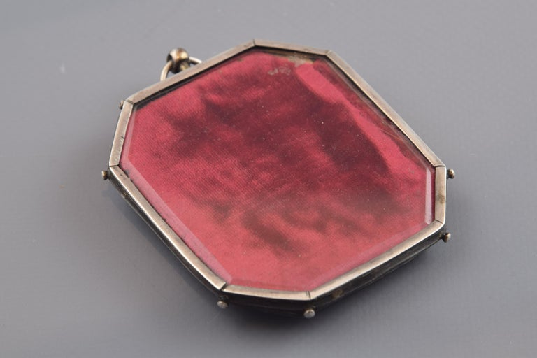 18th Century and Earlier Reliquary Pendant, Silver, Enamel, 17th Century For Sale