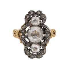 Remarkable Georgian 1.80 Carat Diamond Rare Panel Ring, circa 1790