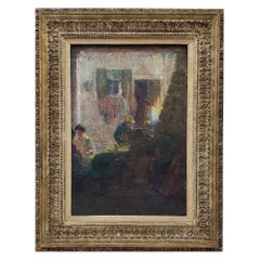 Remarkable Impressionist American or European Oil Painting, circa 1940s