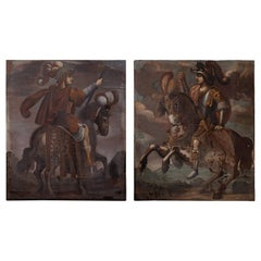 Remarkable Pair of 16th C. Italian Oil Paintings