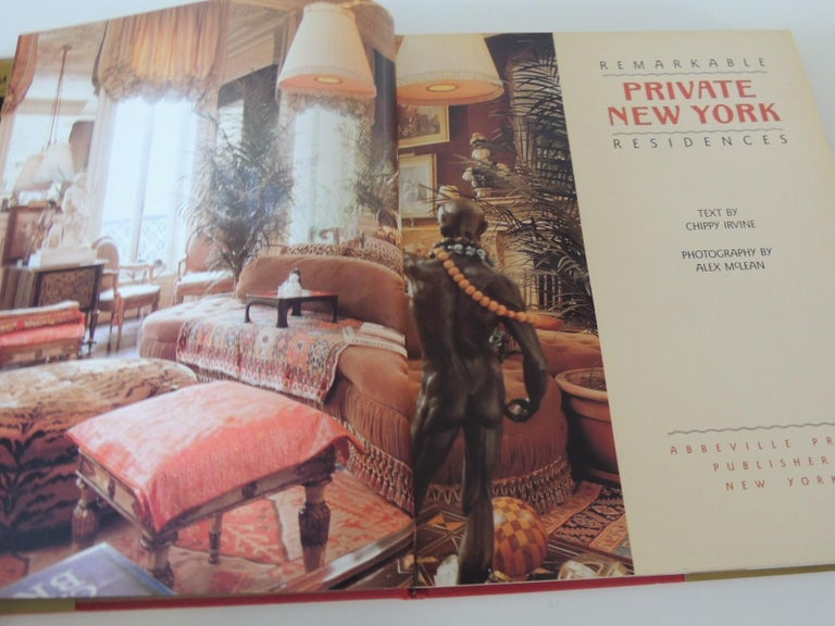 American Classical Remarkable Private NY Residences Vintage Decorative Hardcover Book For Sale