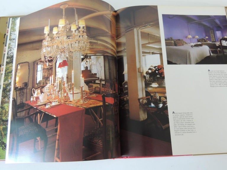Late 20th Century Remarkable Private NY Residences Vintage Decorative Hardcover Book For Sale