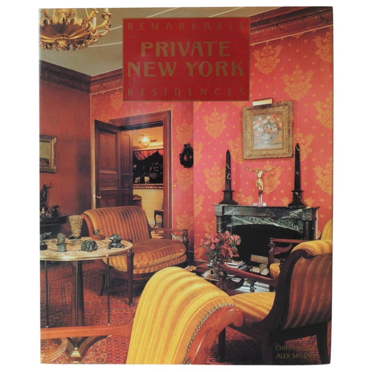 Remarkable Private NY Residences Vintage Decorative Hardcover Book For Sale