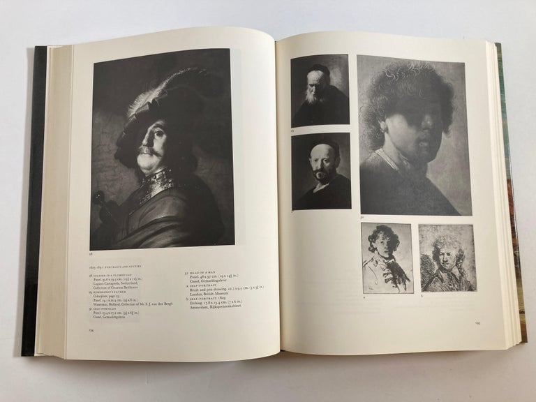 Paper Rembrandt Paintings Hardcover Book by Gerson Horst For Sale
