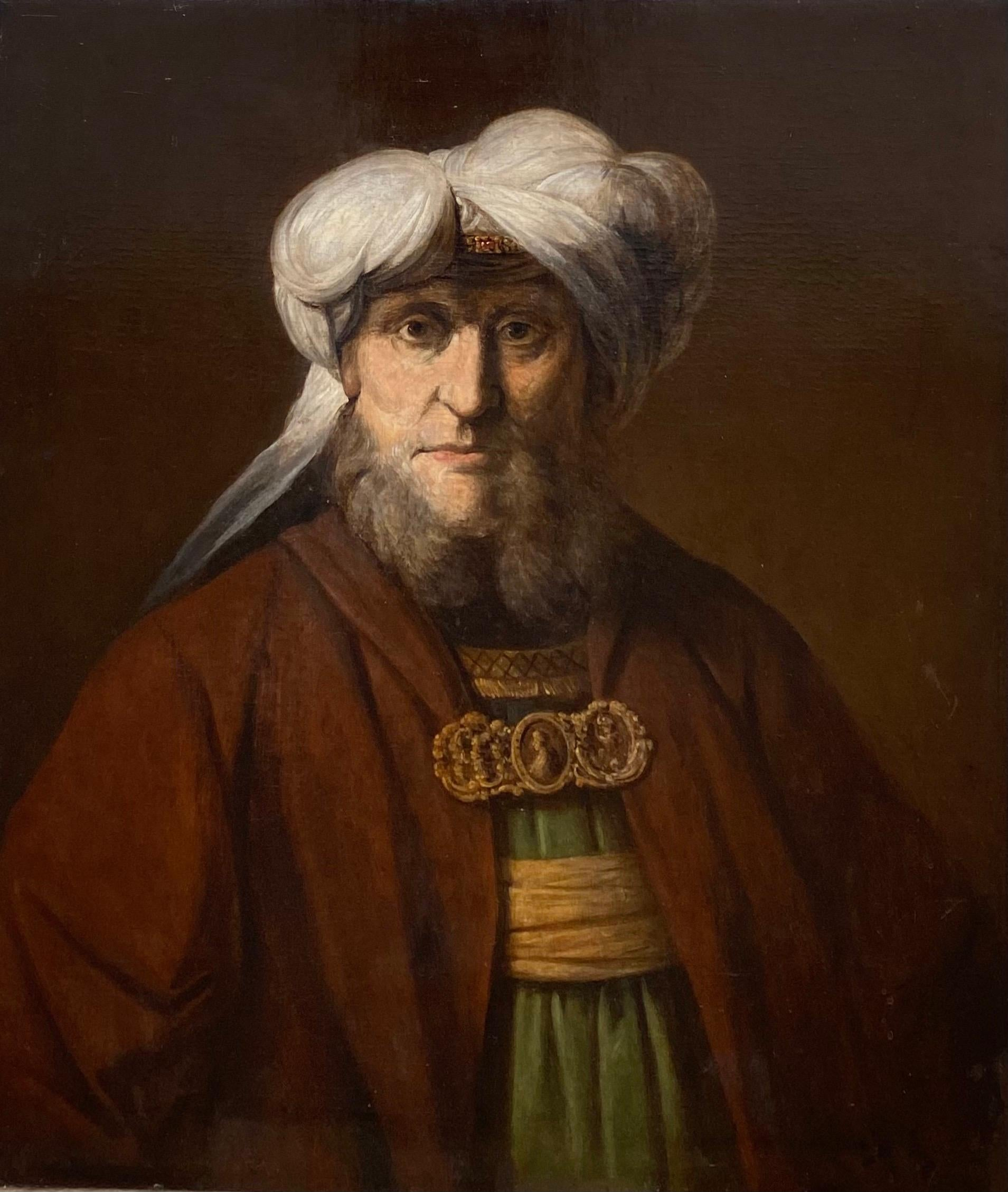 Antique Dutch old Master painting of King Uzziah - Judaica