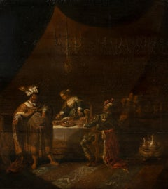 Ahasuerus and Hamas at the Feast of Esther, 17th Century