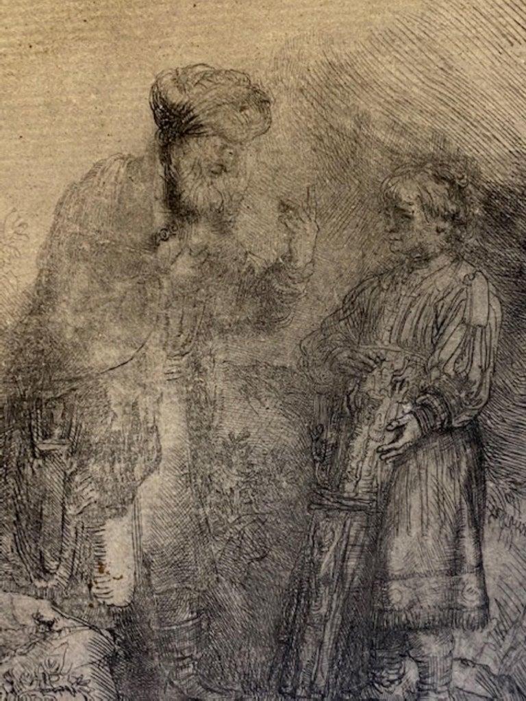 Abraham & Isaac - Print by Rembrandt van Rijn