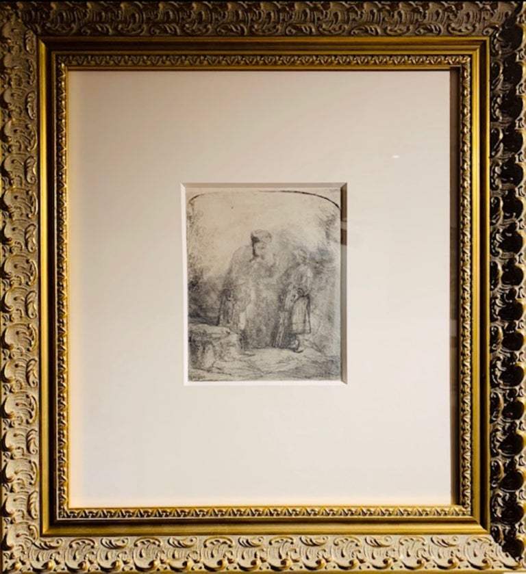 Rembrandt van Rijn Figurative Print - Abraham & Isaac