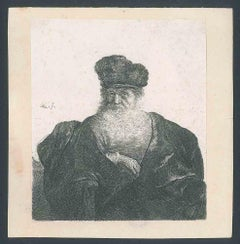 An Old Man with a Beard, Fur Cap and Velvet Cloak