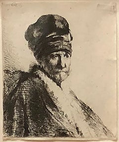 Bust of a Man Wearing a High Cap, Three Quarters Right (The Artist's Father?)
