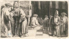 La Synagogue des Juifs - Original Etching by Rembrandt - 1648