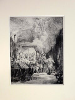 REMBRANDT 'DEATH OF A VIRGIN' B.99, Etching, 1891