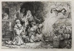 The Angel Departing from the Family of Tobias - Etching