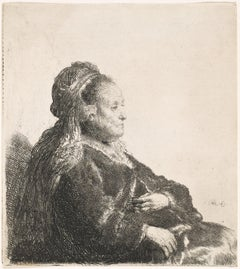 The Artist's Mother. By Rembrandt van Rijn.