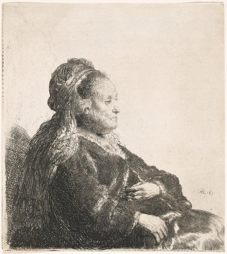 The Artist's Mother. By Rembrandt van Rijn. - Print by Rembrandt van Rijn