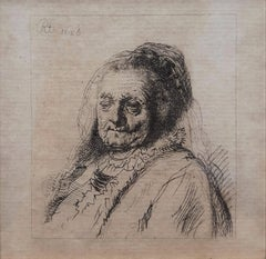 The Artist's Mother: Head and Bust, three-quarters right